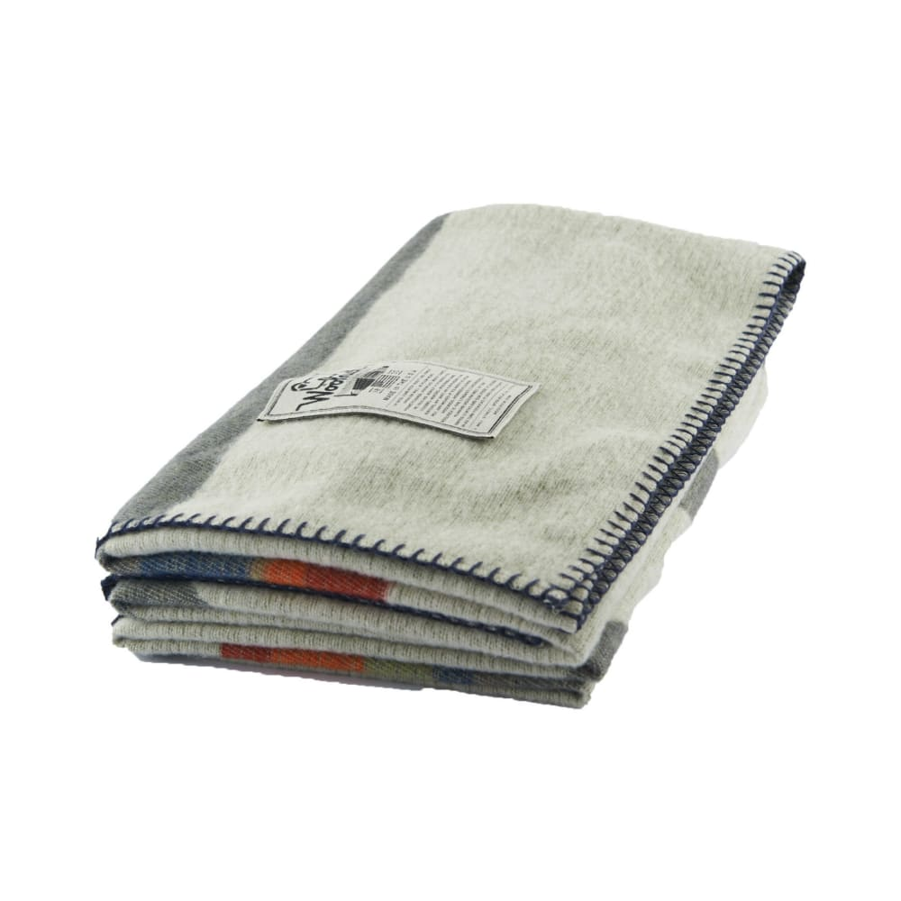 WOOLRICH Appalachian Trail Wool Blanket - GREY