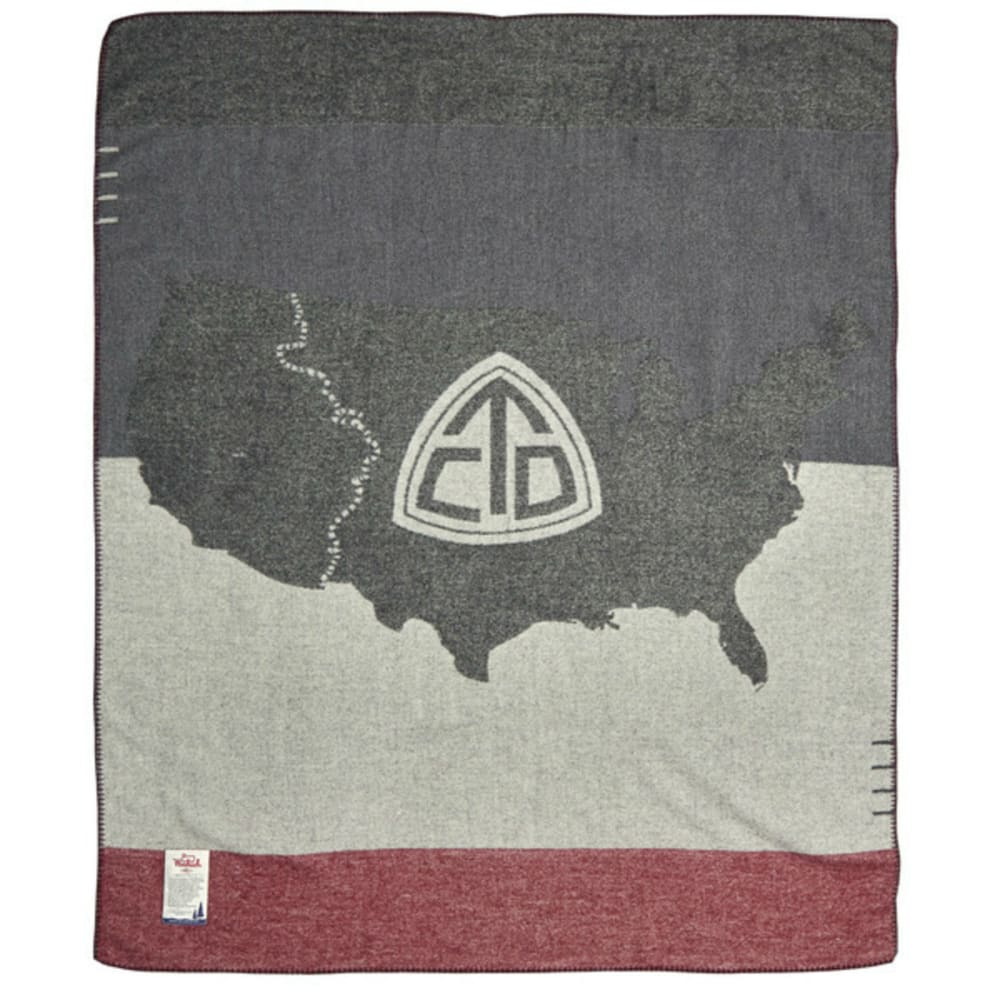 WOOLRICH Continental Divide Trail Wool Blanket - GREY
