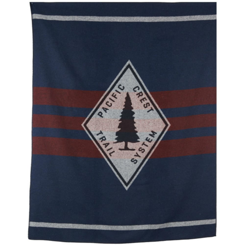 WOOLRICH Pacific Crest Trail Wool Blanket - GREY