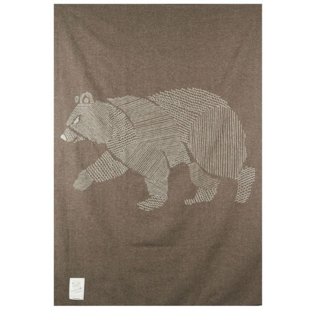 WOOLRICH Treverton Jacquard Wool Blanket - BEAR