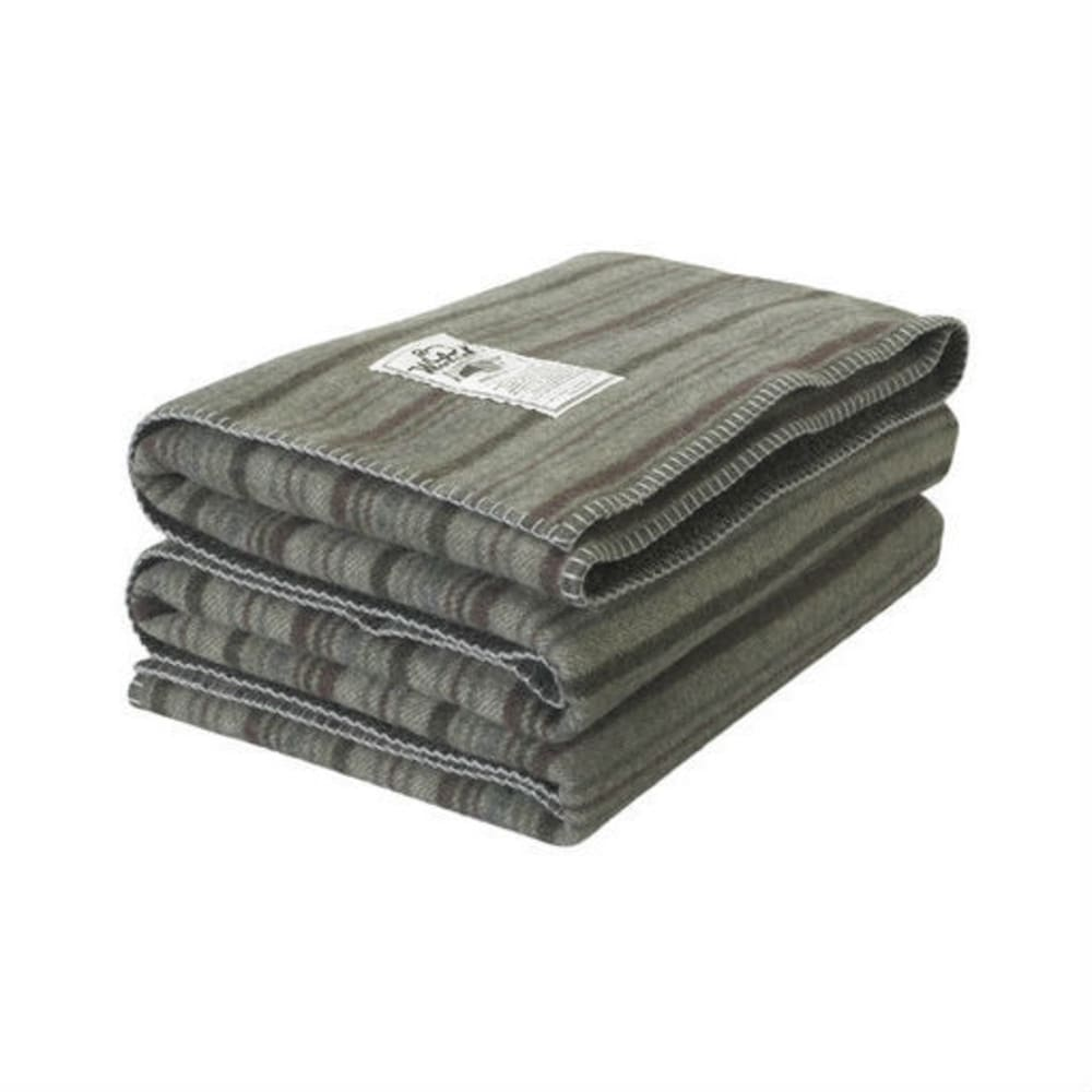 WOOLRICH Sherpa Rough Rider Stripe Blanket - GREEN