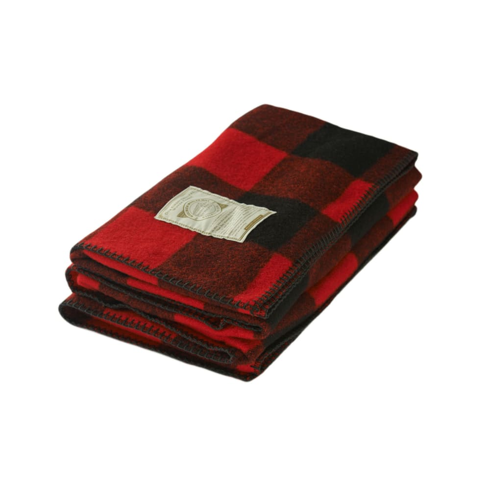 WOOLRICH Rough Rider Wool Blanket - RED