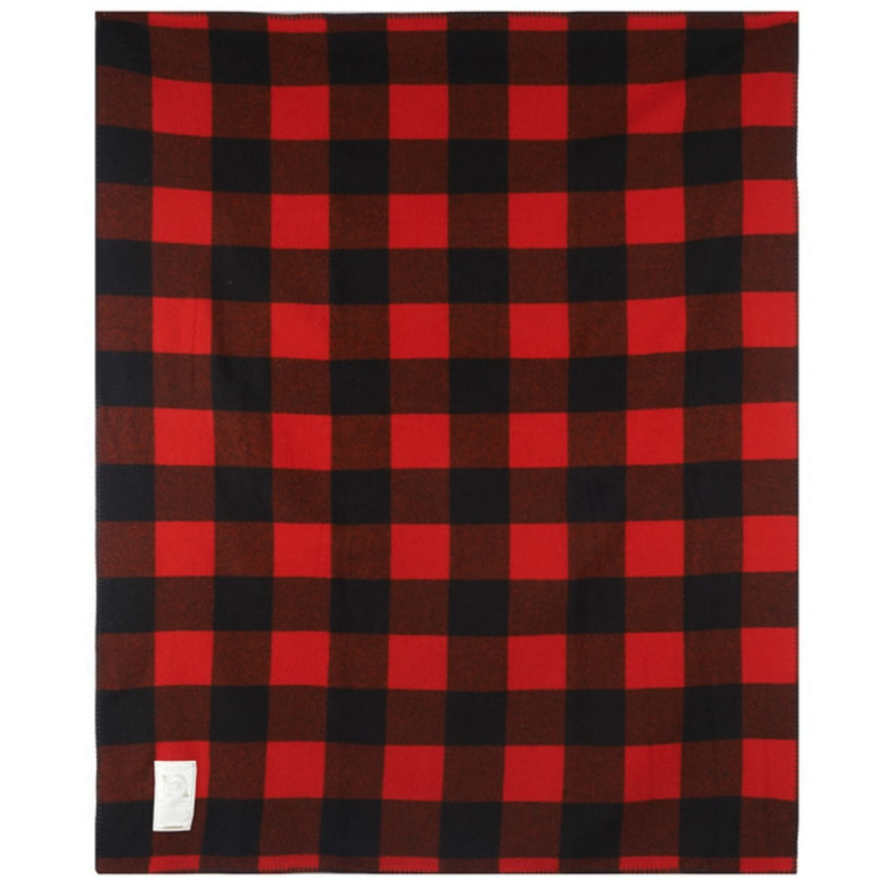 WOOLRICH Rough Rider Wool Blanket - RED