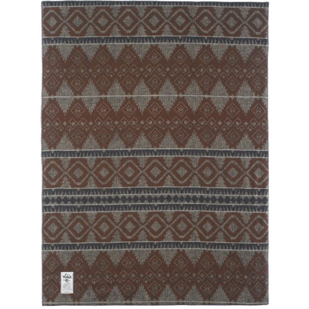 WOOLRICH Sherpa Wellsboro Throw Blanket 50x68 - BROWN