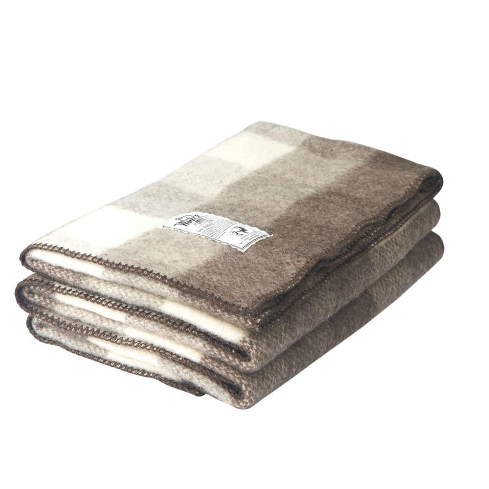 WOOLRICH Suffolk Buffalo Blanket - NATURAL