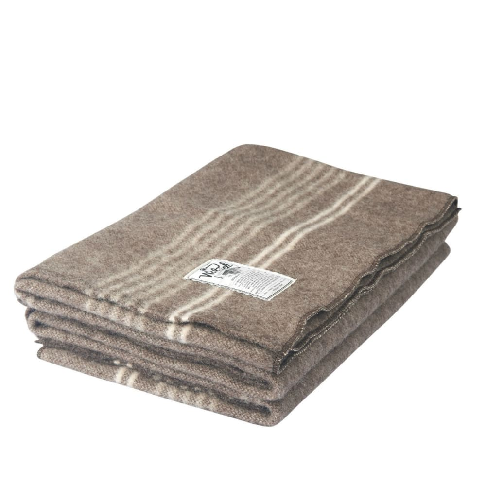 WOOLRICH Suffolk Stripe Blanket - NATURAL