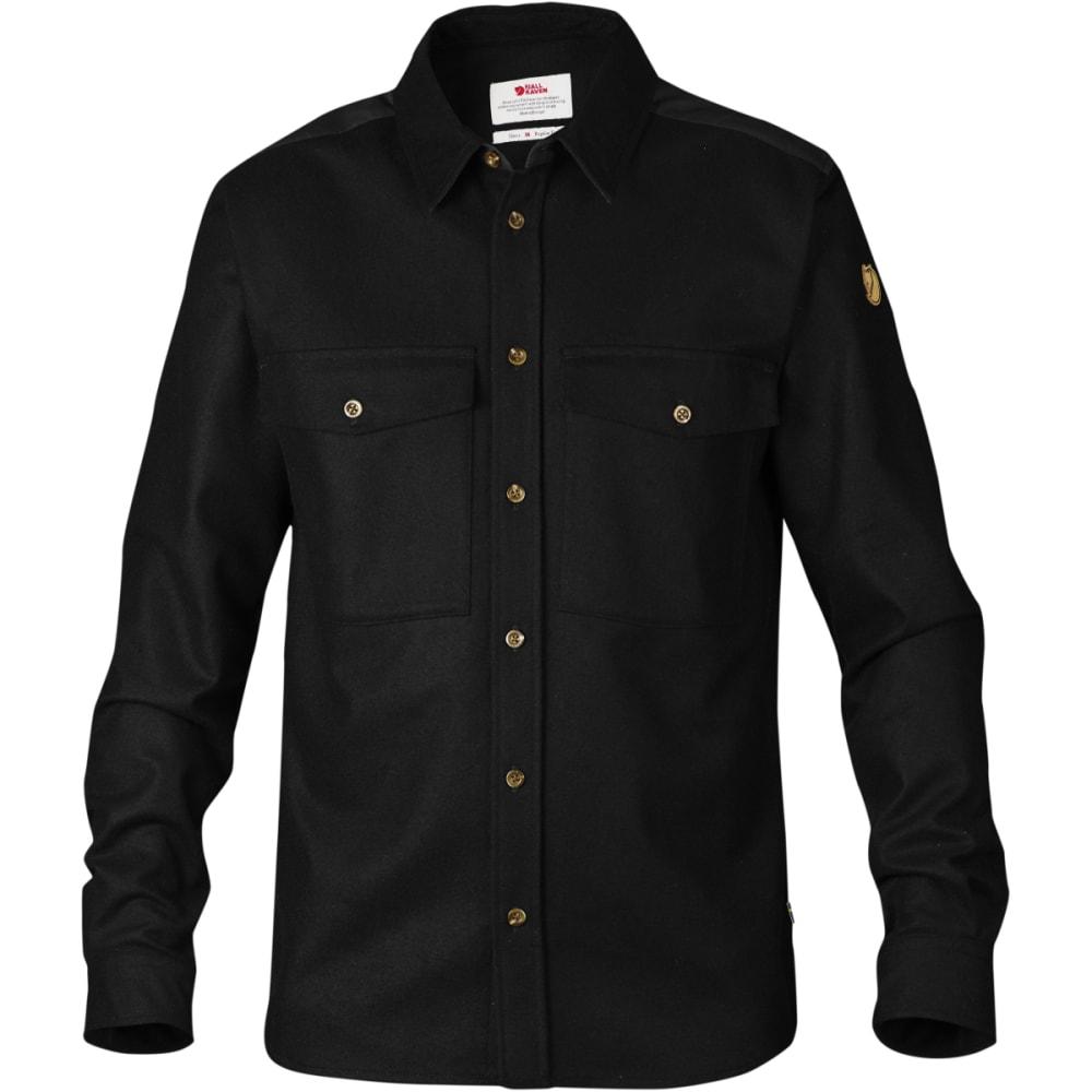 FJÄLLRÄVEN Men's Övik Wool Shirt - BLACK