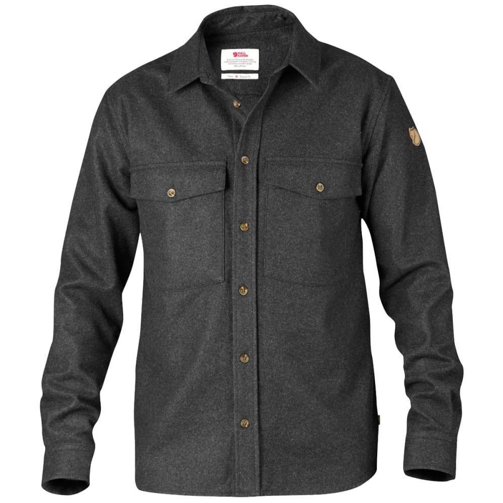 FJÄLLRÄVEN Men's Övik Wool Shirt - DARK GREY