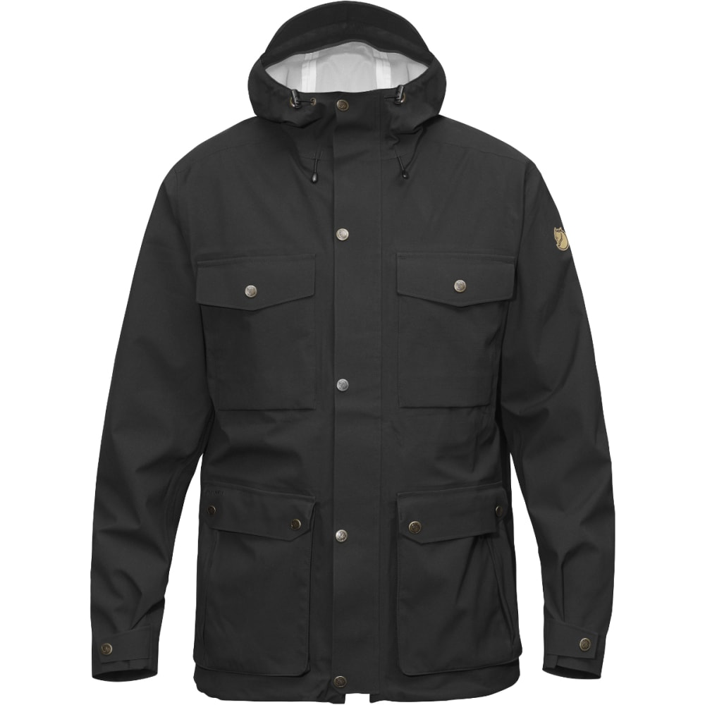 FJALLRAVEN Men's Ovik Eco-Shell Jacket - BLACK