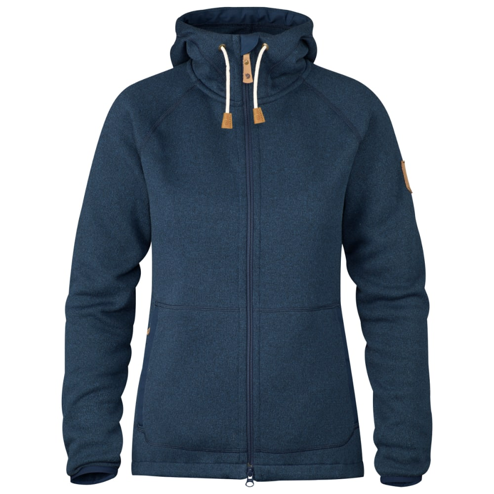 FJALLRAVEN Women's Ovik Fleece Hoodie - NAVY