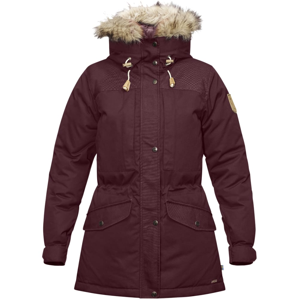 FJALLRAVEN Women's Singi Down Jacket - DARK GARNET
