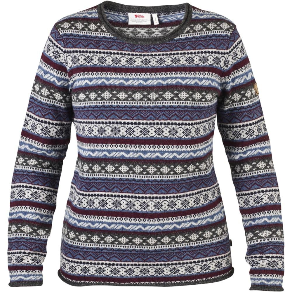 FJALLRAVEN Women's Ovik Folk Knit Sweater - UNCLE BLUE