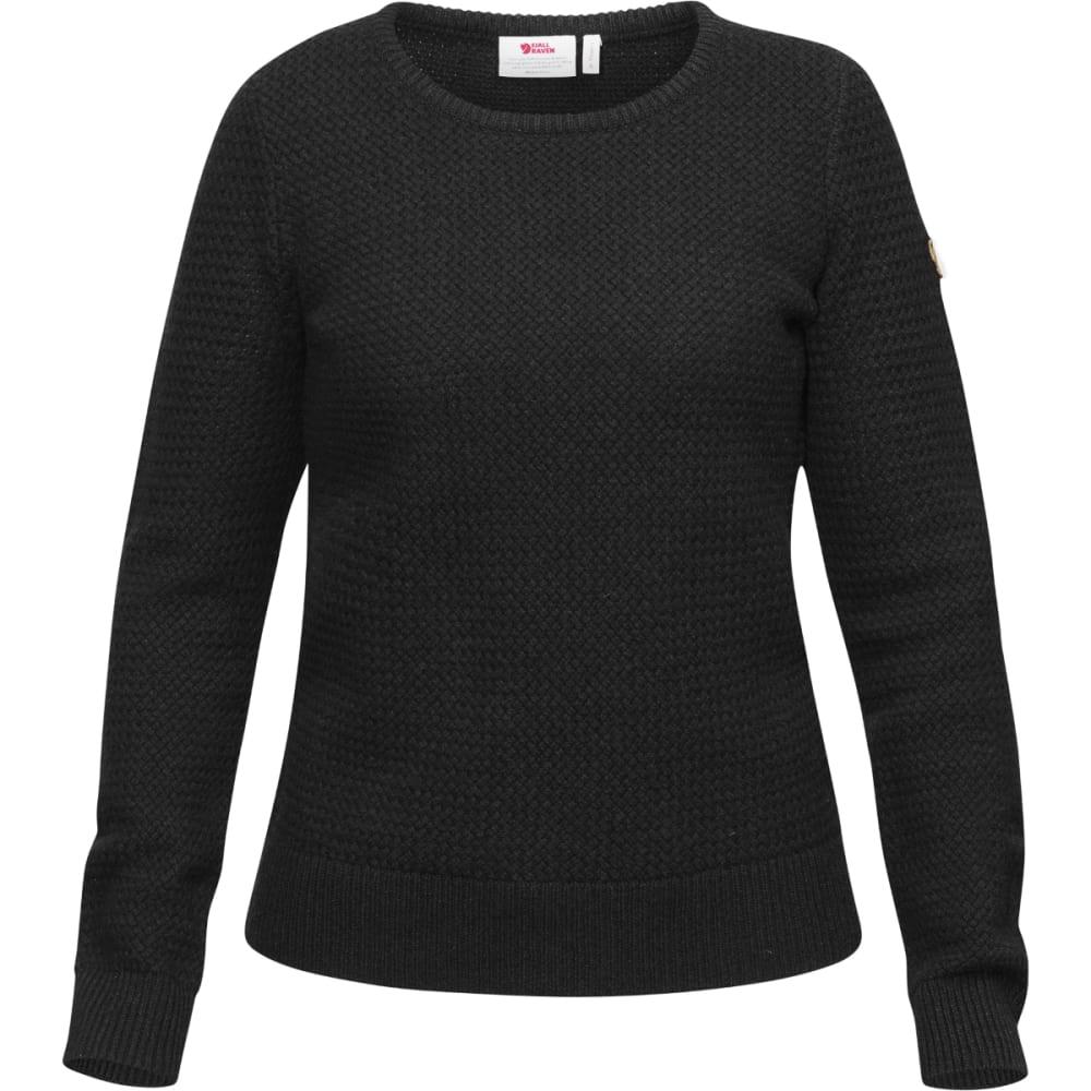 FJÄLLRÄVEN Women's Övik Strucutre Sweater - DARK GREY