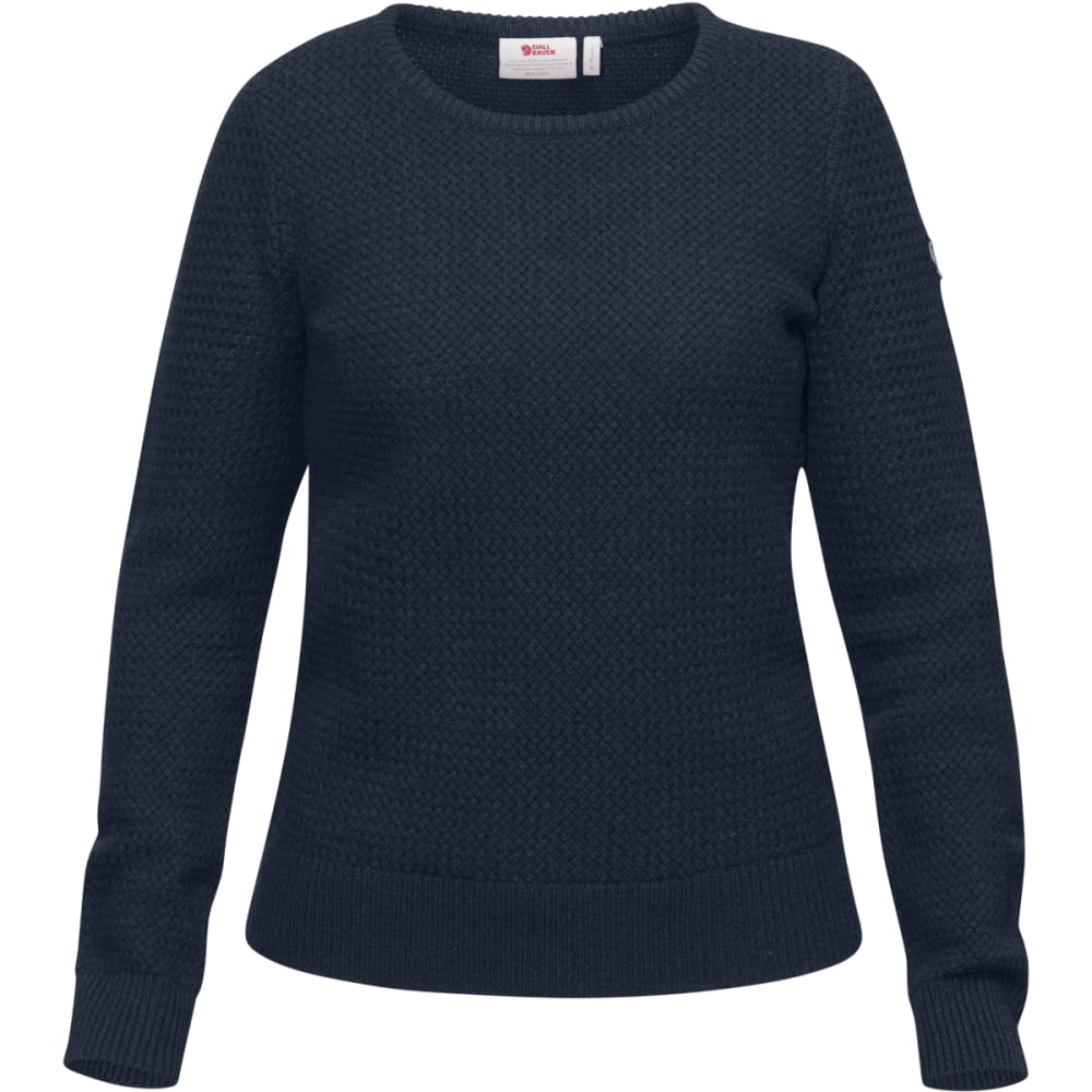FJALLRAVEN Women's Ovik Strucutre Sweater - NAVY