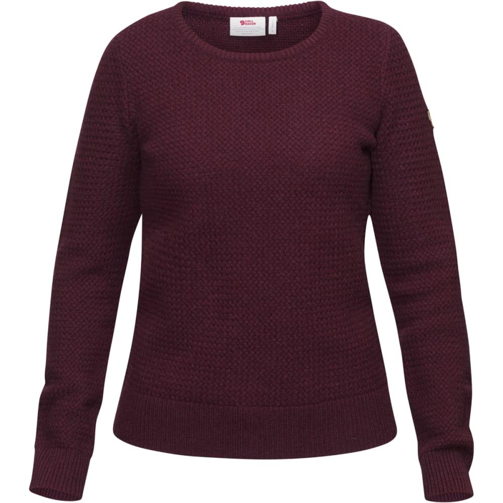 FJALLRAVEN Women's Övik Strucutre Sweater - DARK GARNET