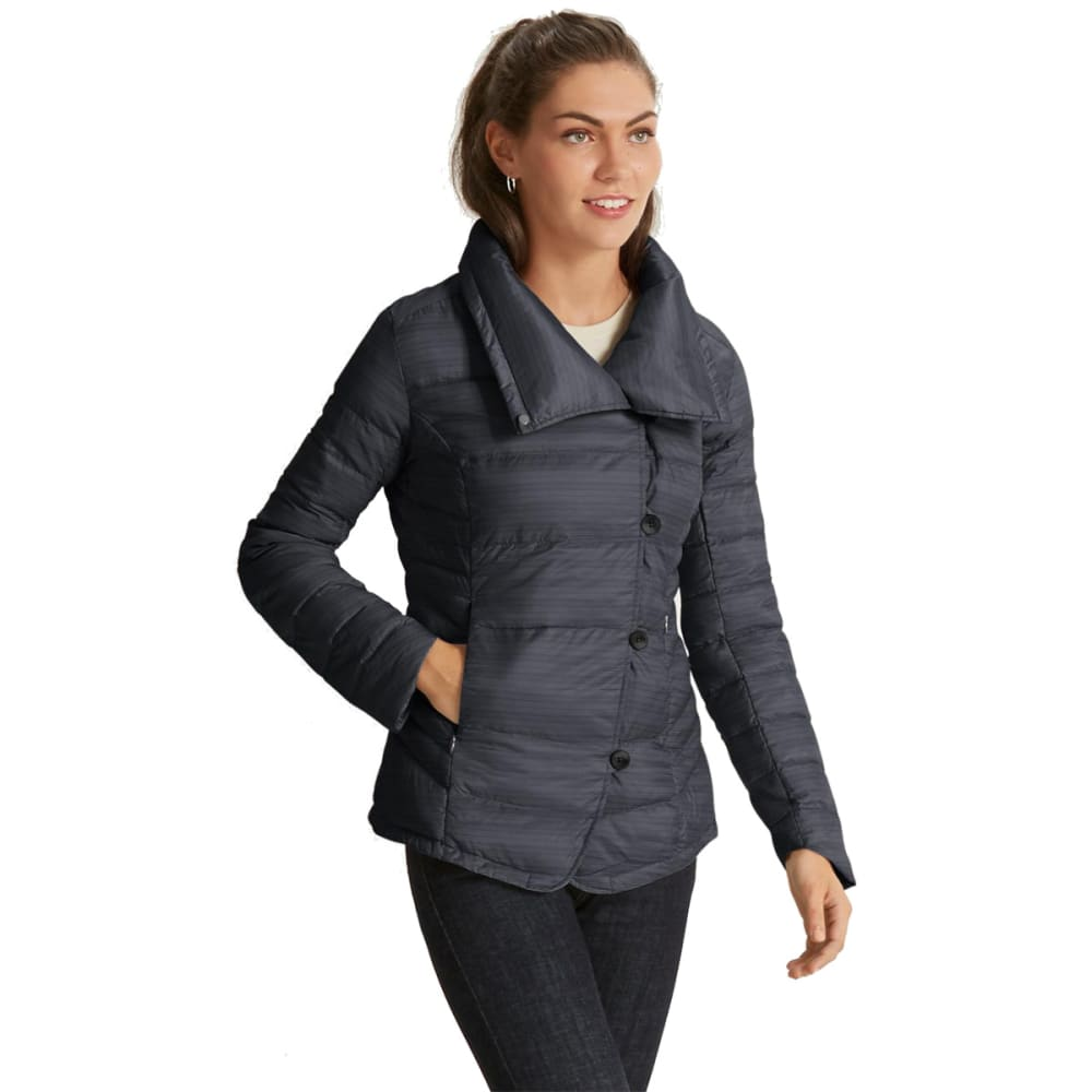 NAU Women's Imperial Down Jacket - CAVIAR STRIPE