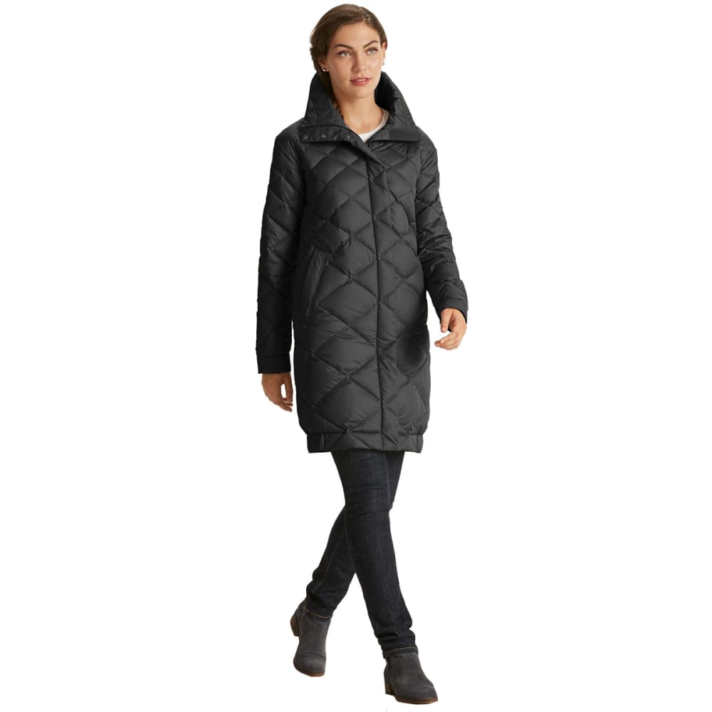 NAU Women's Cocoon Wool Down Trench  - CAVIAR