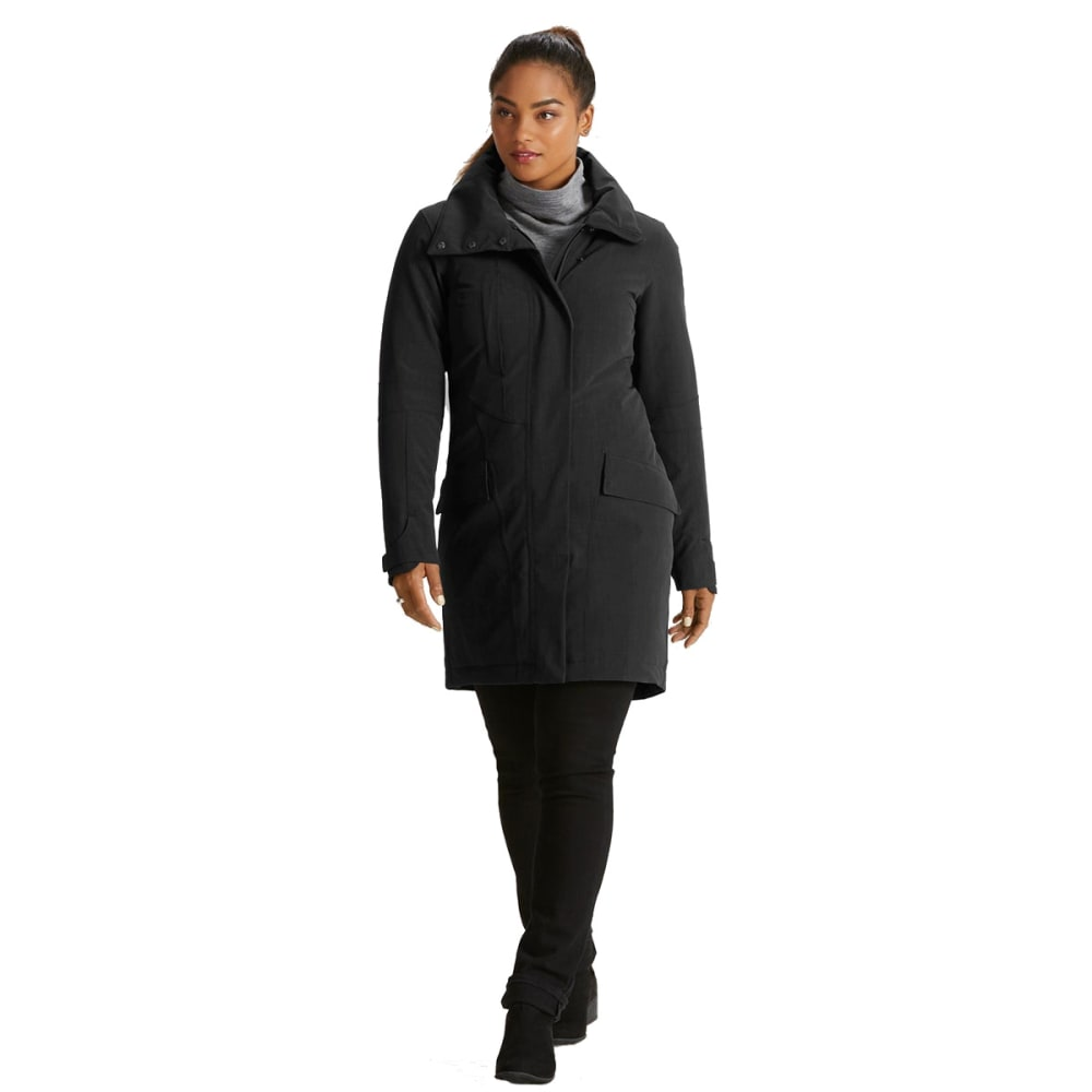 NAU Women's Luminary Trench - CAVIAR HEATHER