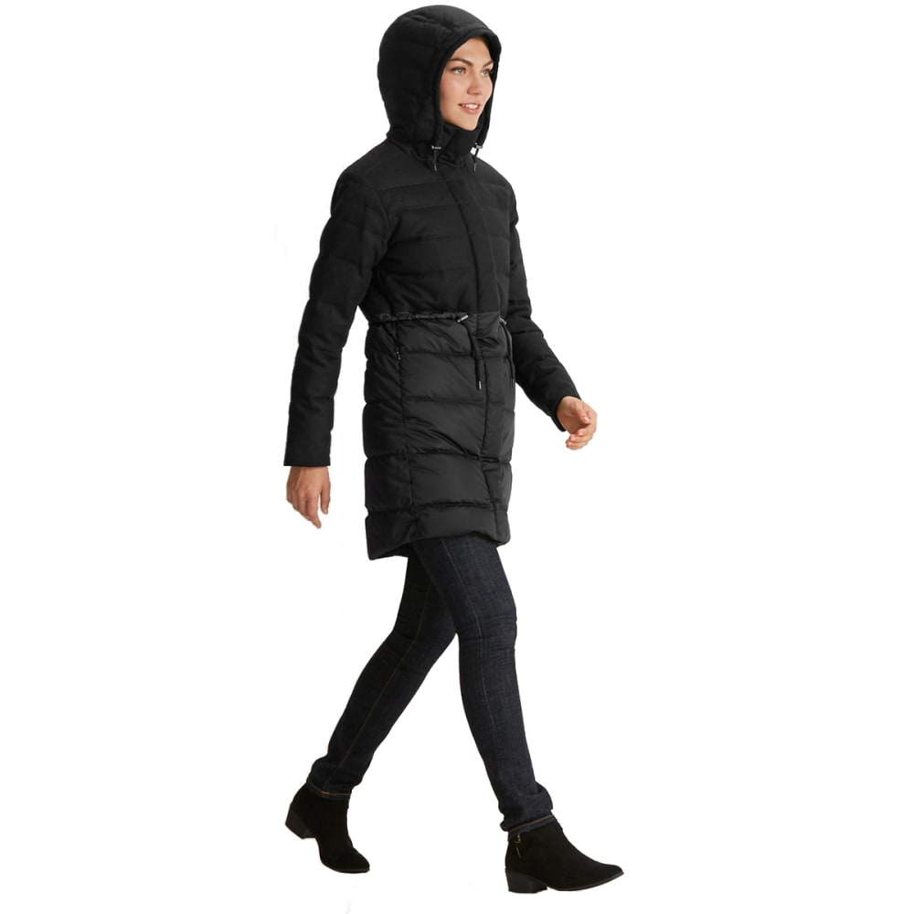 NAU Women's Dual Down Trench Coat - CAVIAR