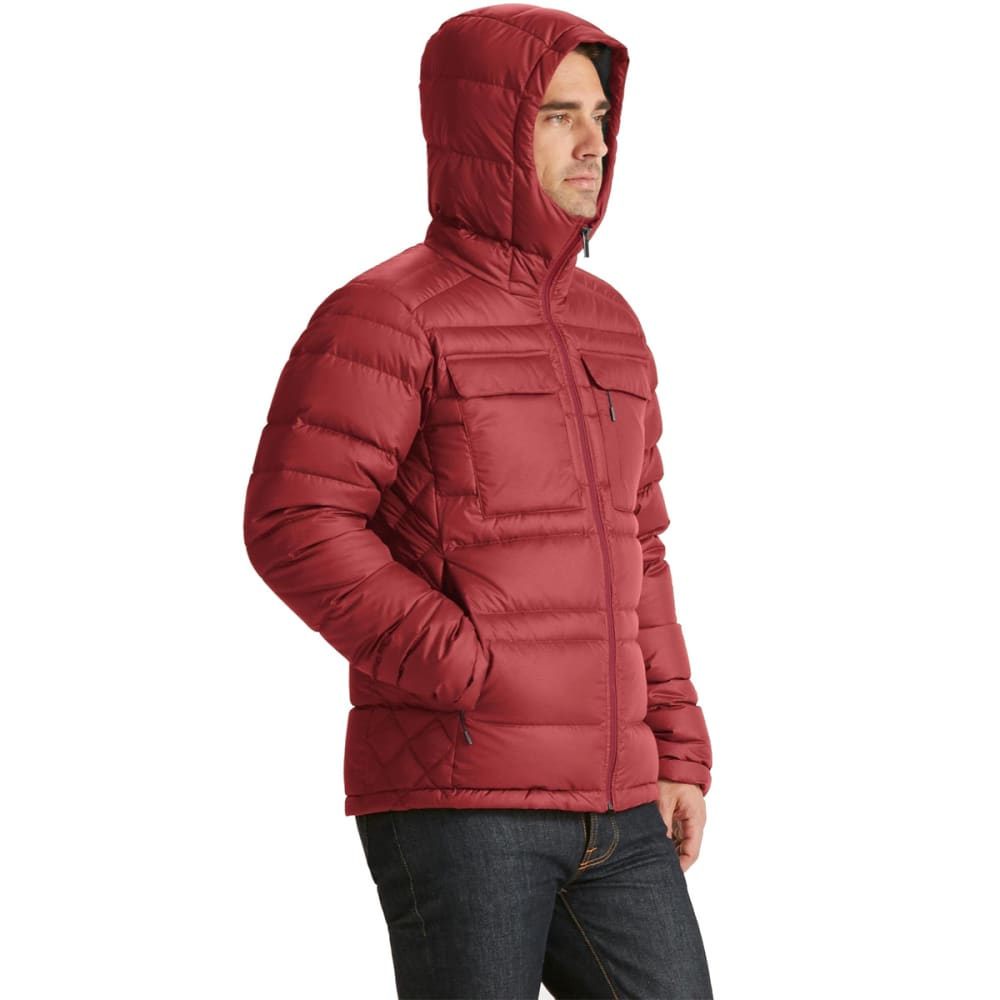 NAU Men's Drop Down Hoody Jacket  - POMEGRANATE