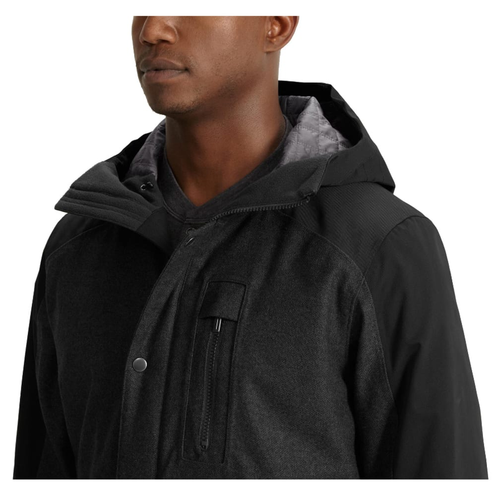 NAU Men's Prato Wool Synfill Jacket  - CAVIAR HEATHER