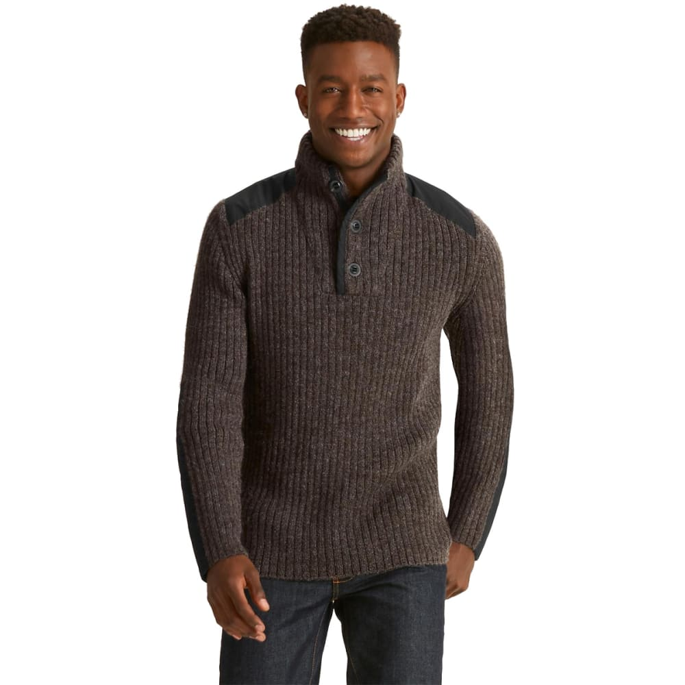 NAU Men's Nazca Alpaca Sweater   - CLOVE HEATHER
