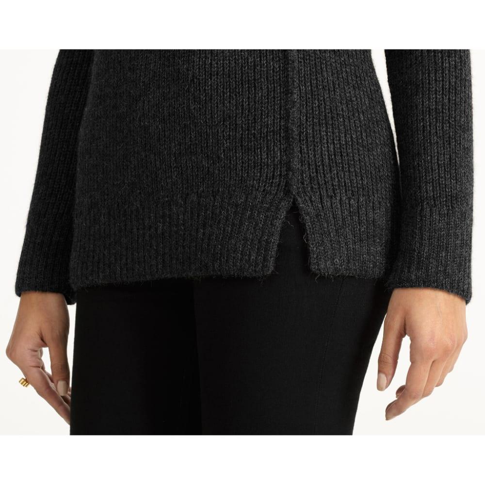 NAU Women's Nazca Alpaca Sweater - CAVIAR HEATHER