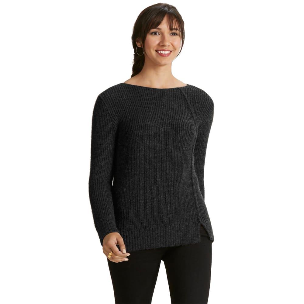 NAU Women'sNazca Alpaca Sweater - CAVIAR HEATHER