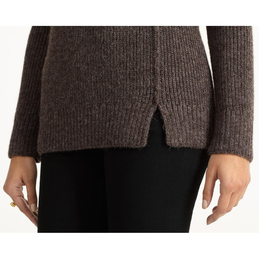 NAU Women's  Nazca Alpaca Sweater - CLOVE HEATHER