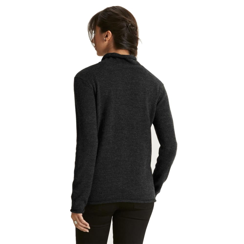 NAU Women's Altiplano Alpaca Pullover   - CAVIAR HEATHER