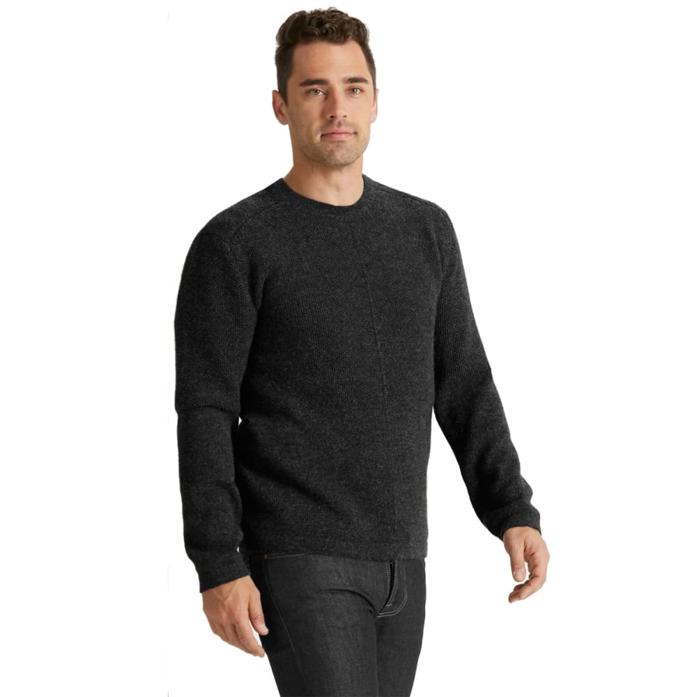 NAU Men's Andiamo Alpaca V-Neck  Shirt - CAVIAR HEATHER