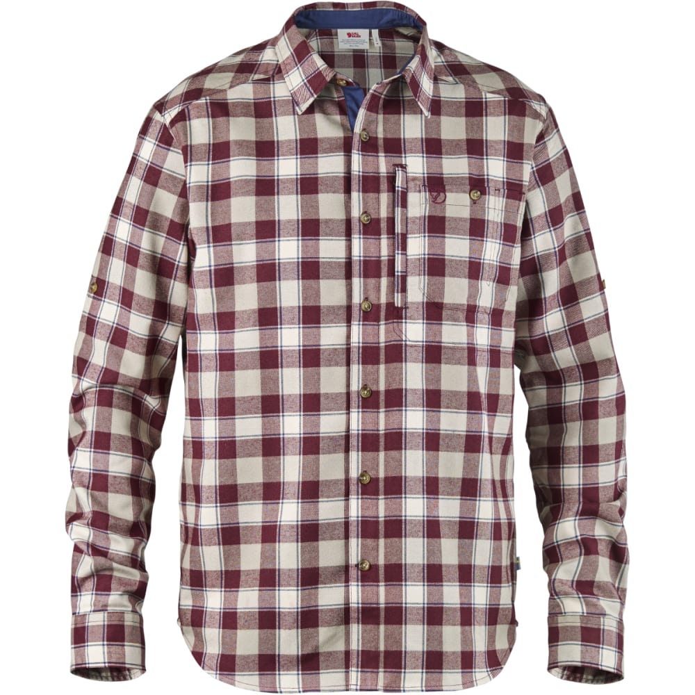 FJALLRAVEN Men's Fjallglim Shirt - DARK GARNET