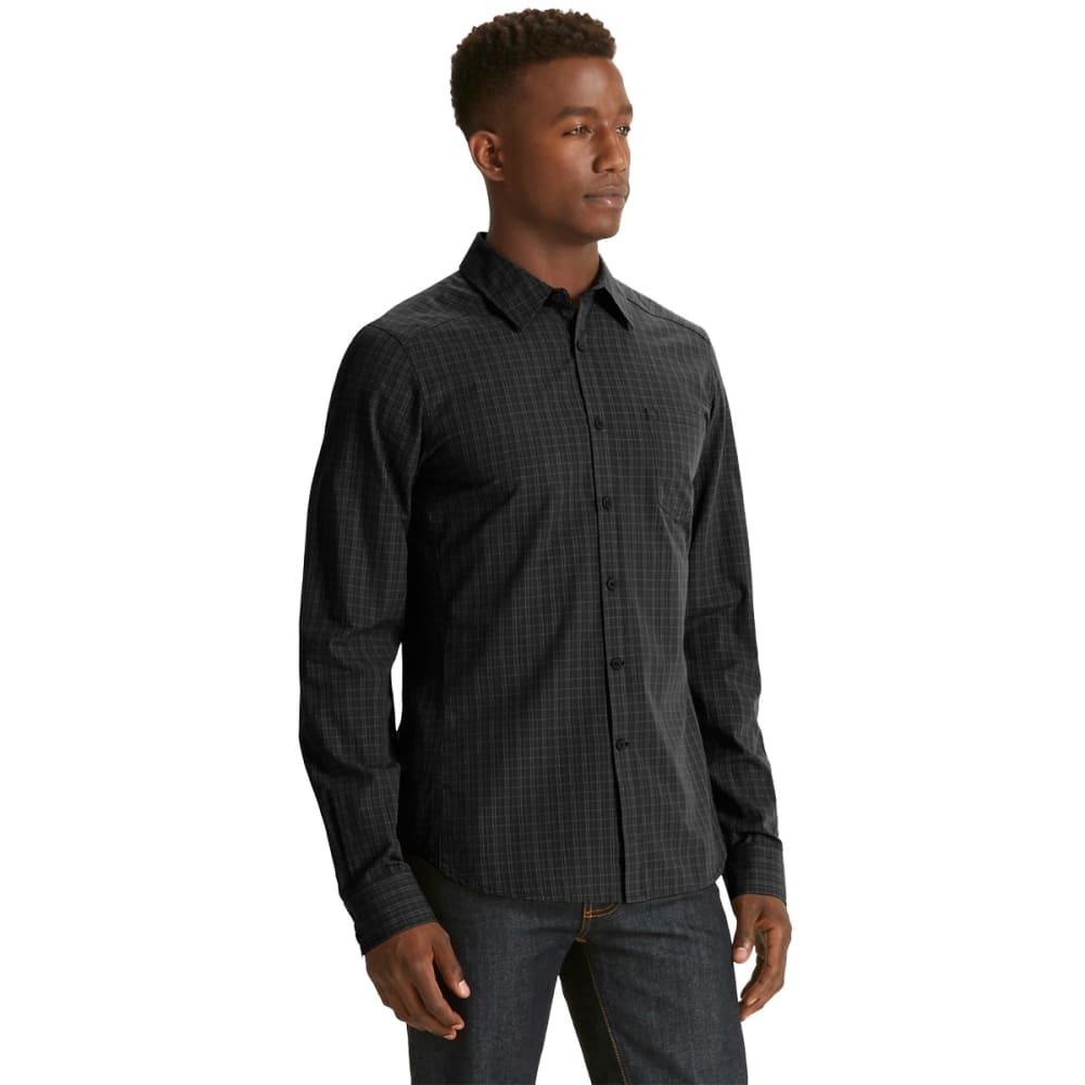 NAU Men's Parallelogram Long Sleeve Shirt - CAVIAR PLAID
