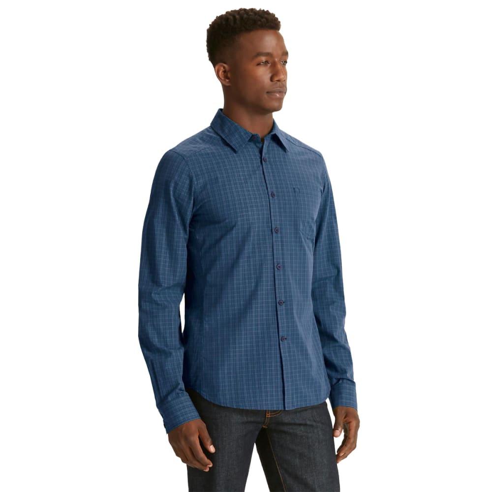 NAU Men's Parallelogram Long-Sleeve Shirt  - TIDE PLAID