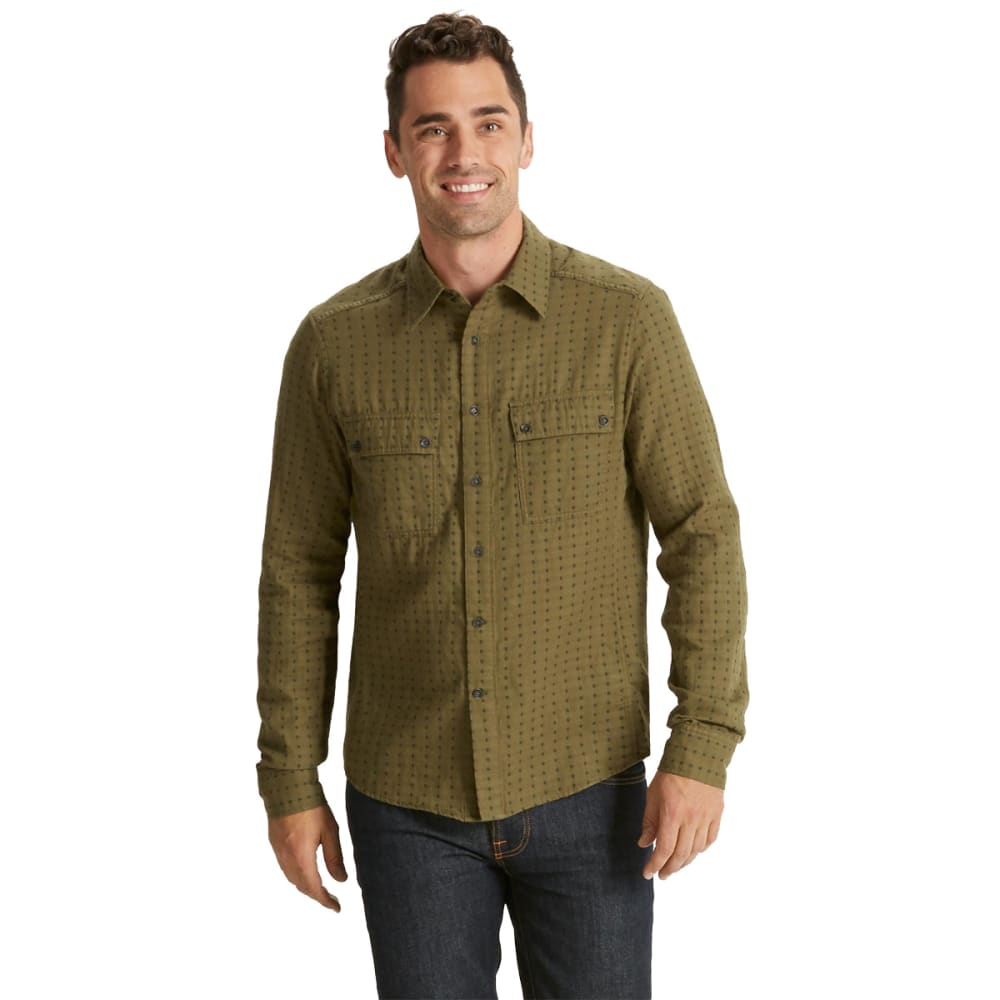 NAU Men's Shadow Box Long-Sleeve Shirt   - FROND PLAID