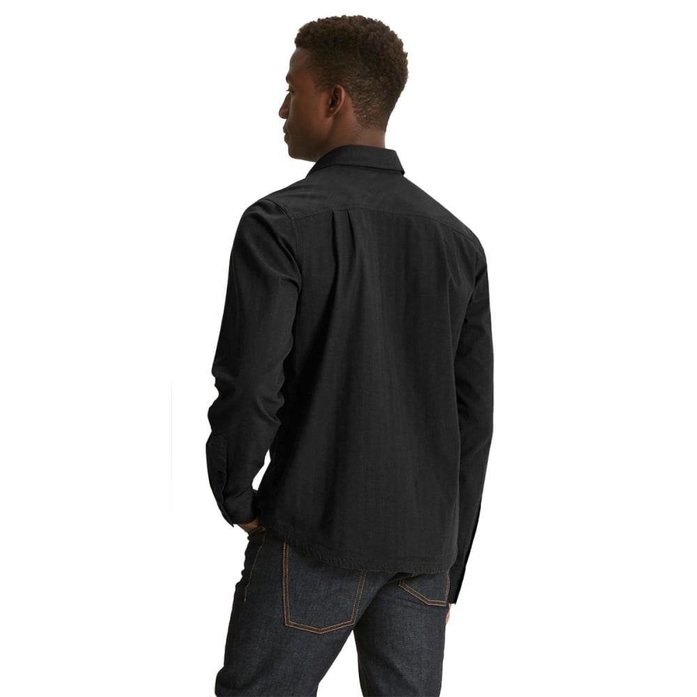 NAU Men's Striate Long Sleeve Shirt - BLACK STRIPE
