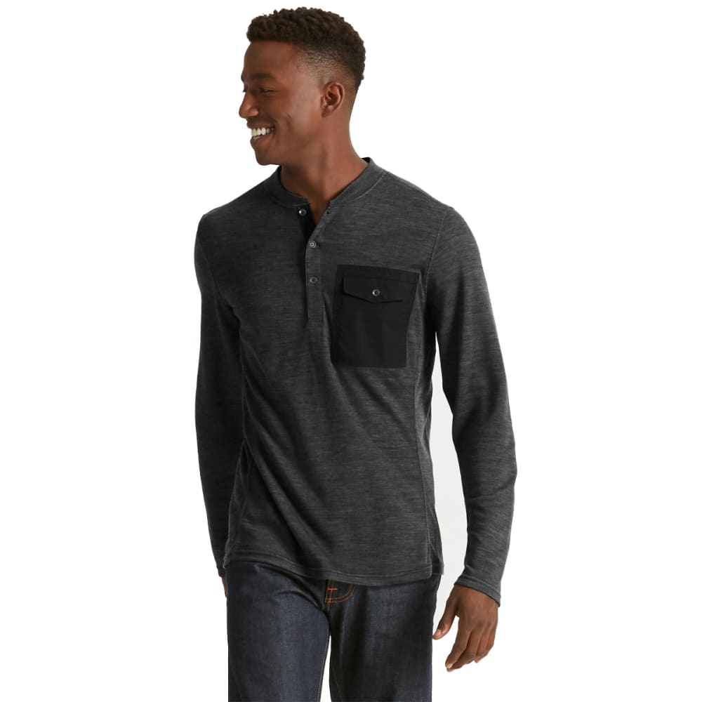 NAU Men's Randygoat Lite Henley  - CAVIAR HEATHER