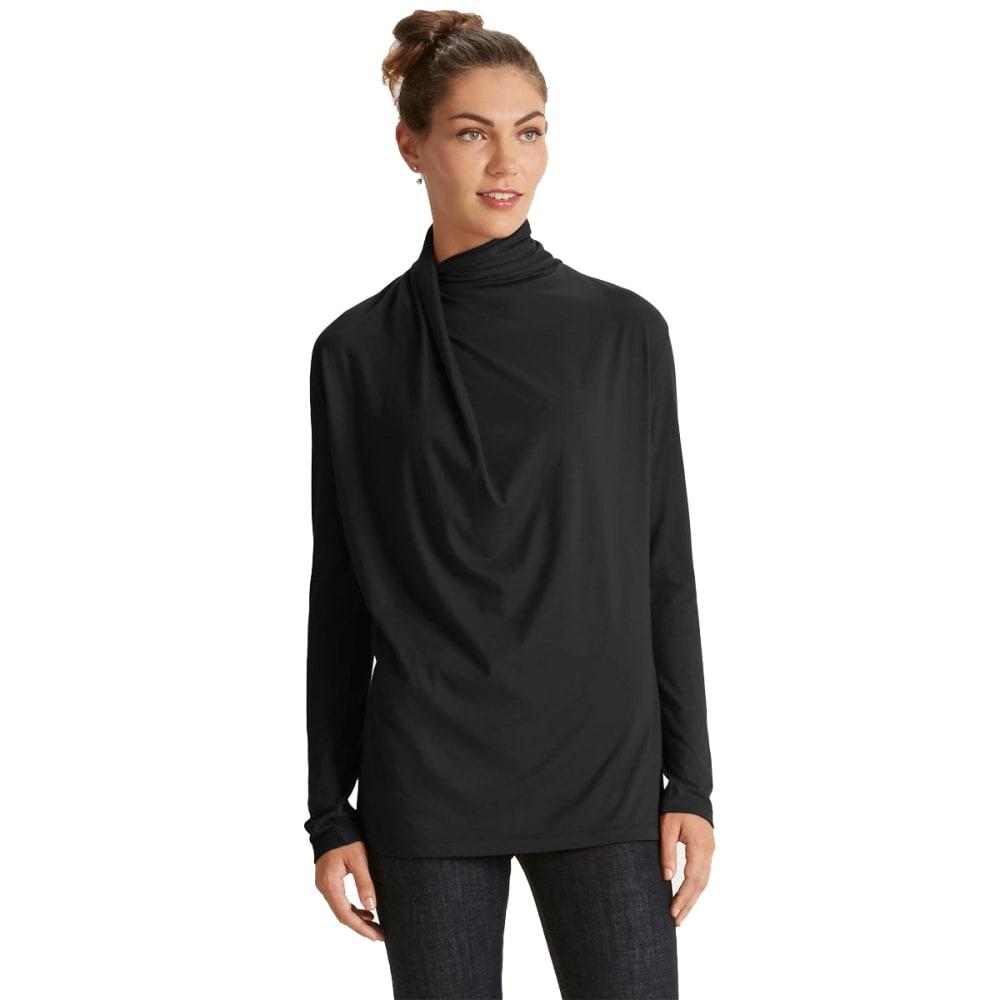 NAU Women's Reposition Long-Sleeve Top - CAVIAR
