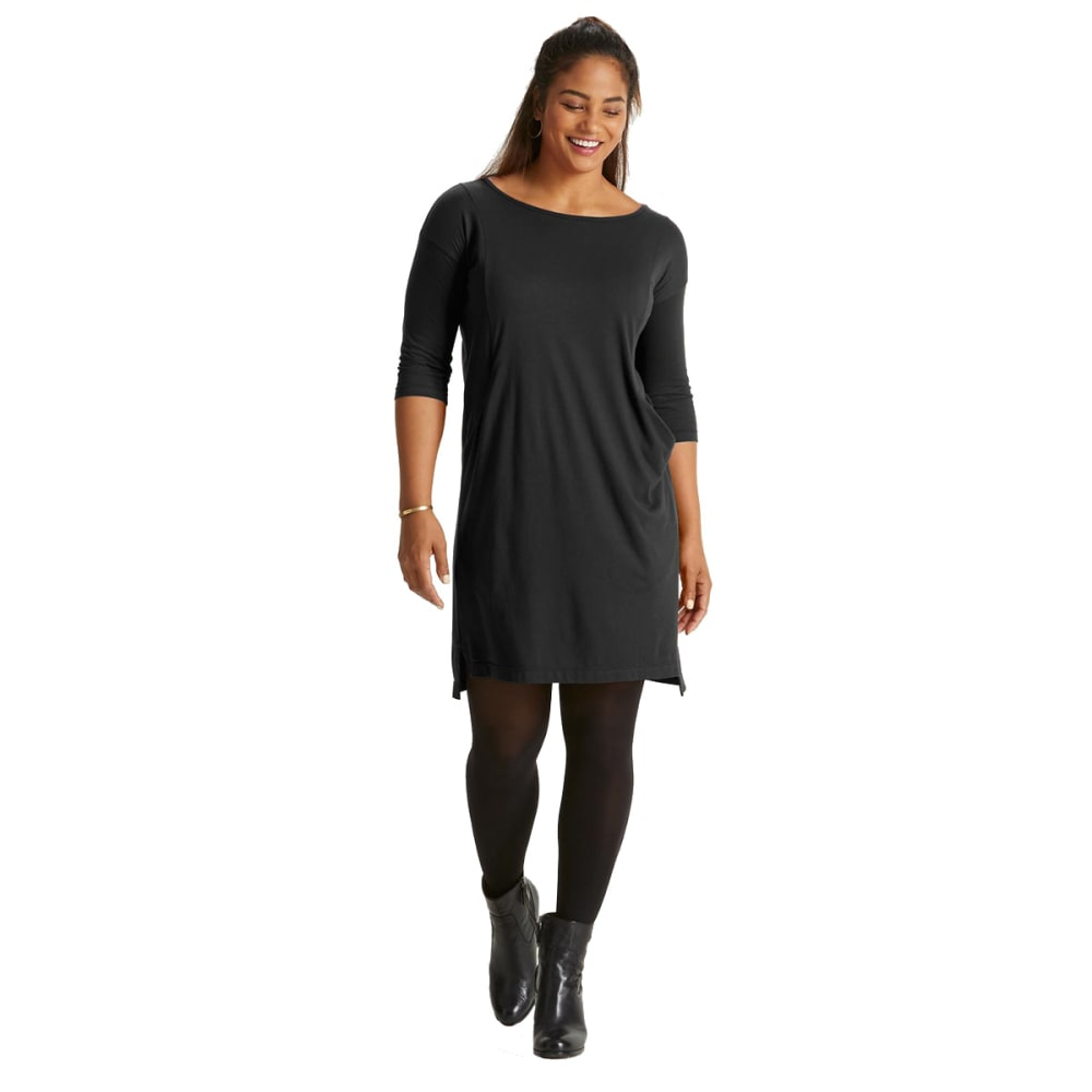 NAU Women's Repose Scoop Neck Dress - CAVIAR