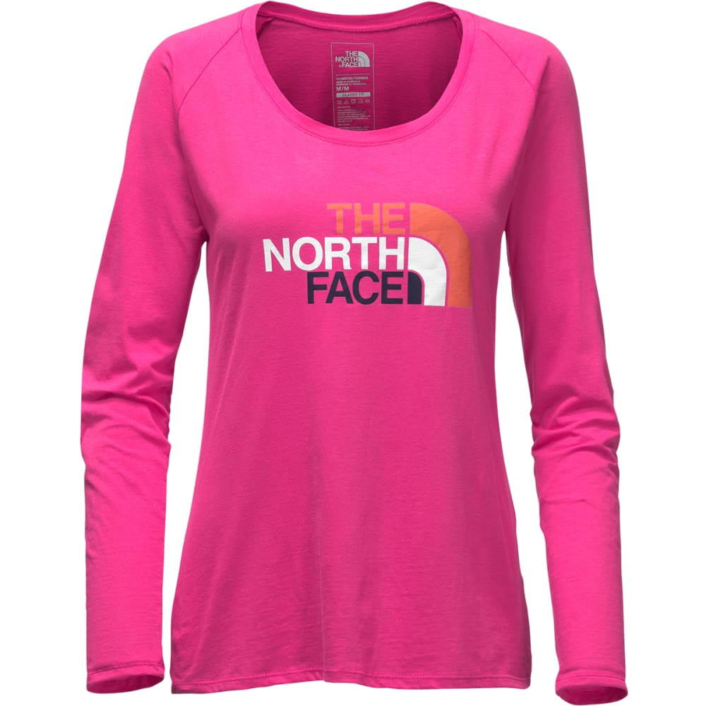 THE NORTH FACE Women's Half Dome Scoop-Neck Tee - HWC-CABARET PINK