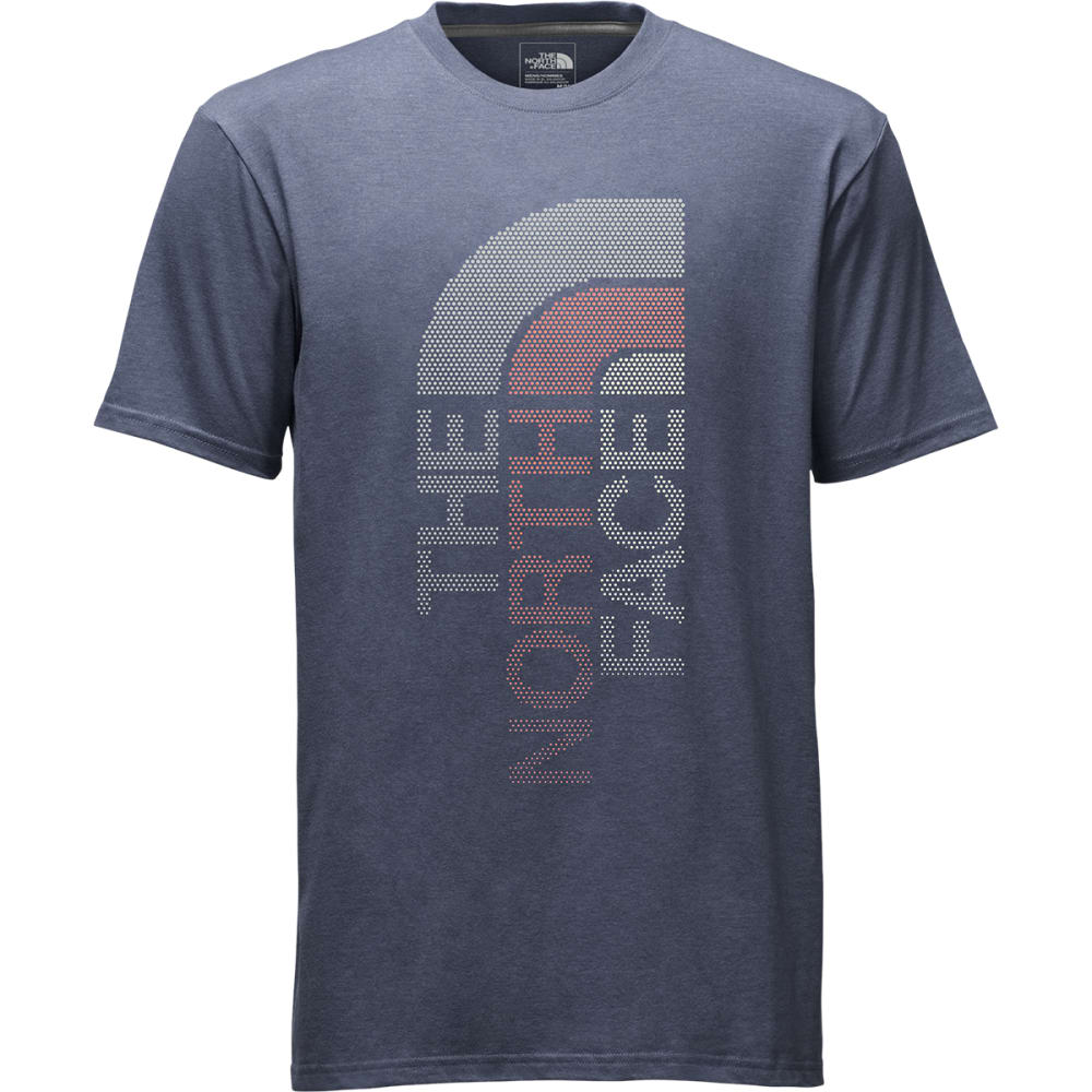The North Face Mens Trivert Short-Sleeve Logo Tee - Blue - Size M NF0A2UY5