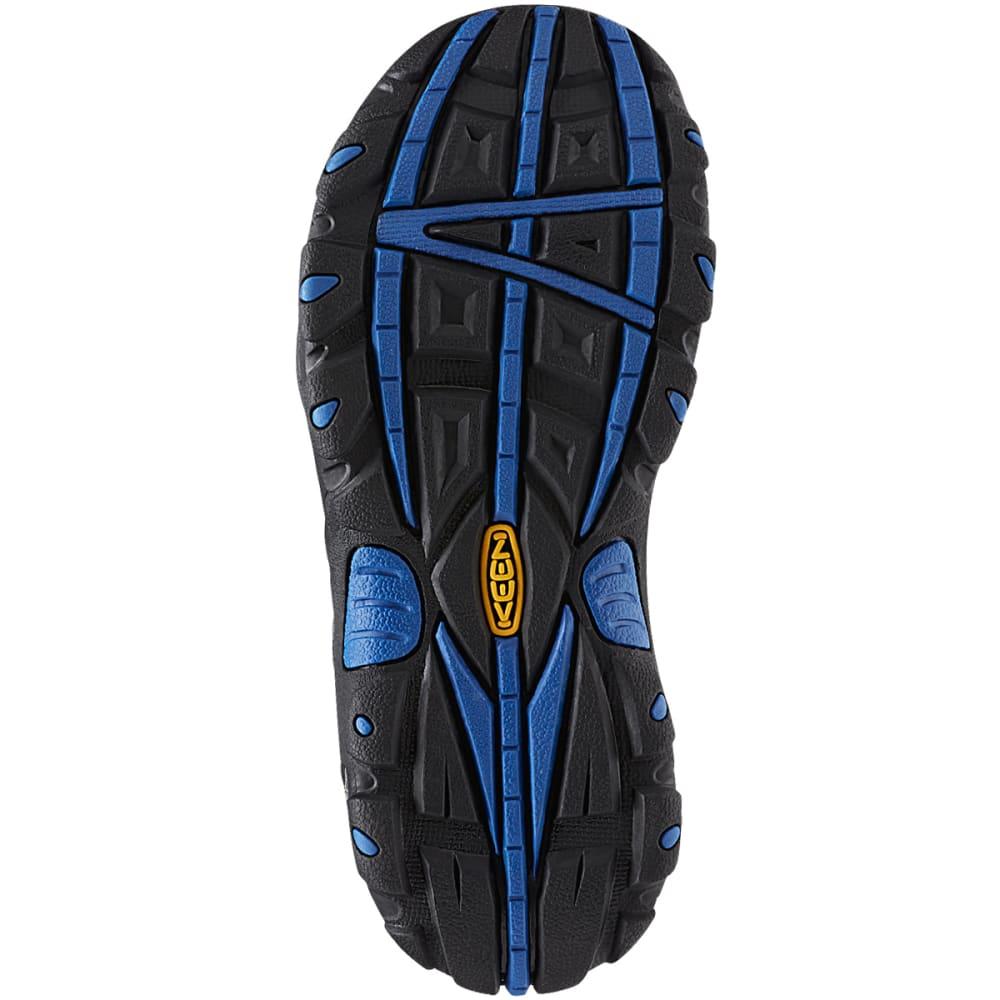 KEEN Kids' Oakridge Low Waterproof Shoes, Magnet/True Blue - MAGNET