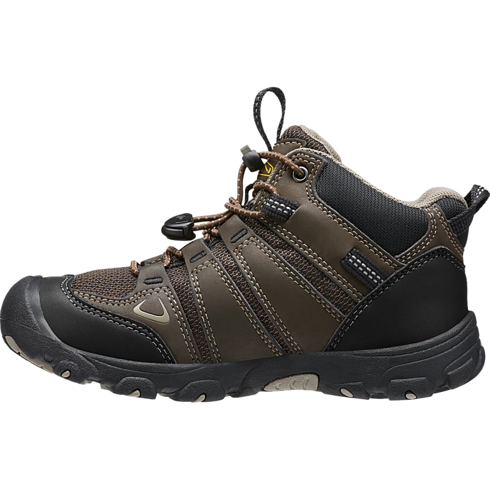 KEEN Kids' Oakridge Mid Waterproof Boots, Brown/Brindle - BROWN
