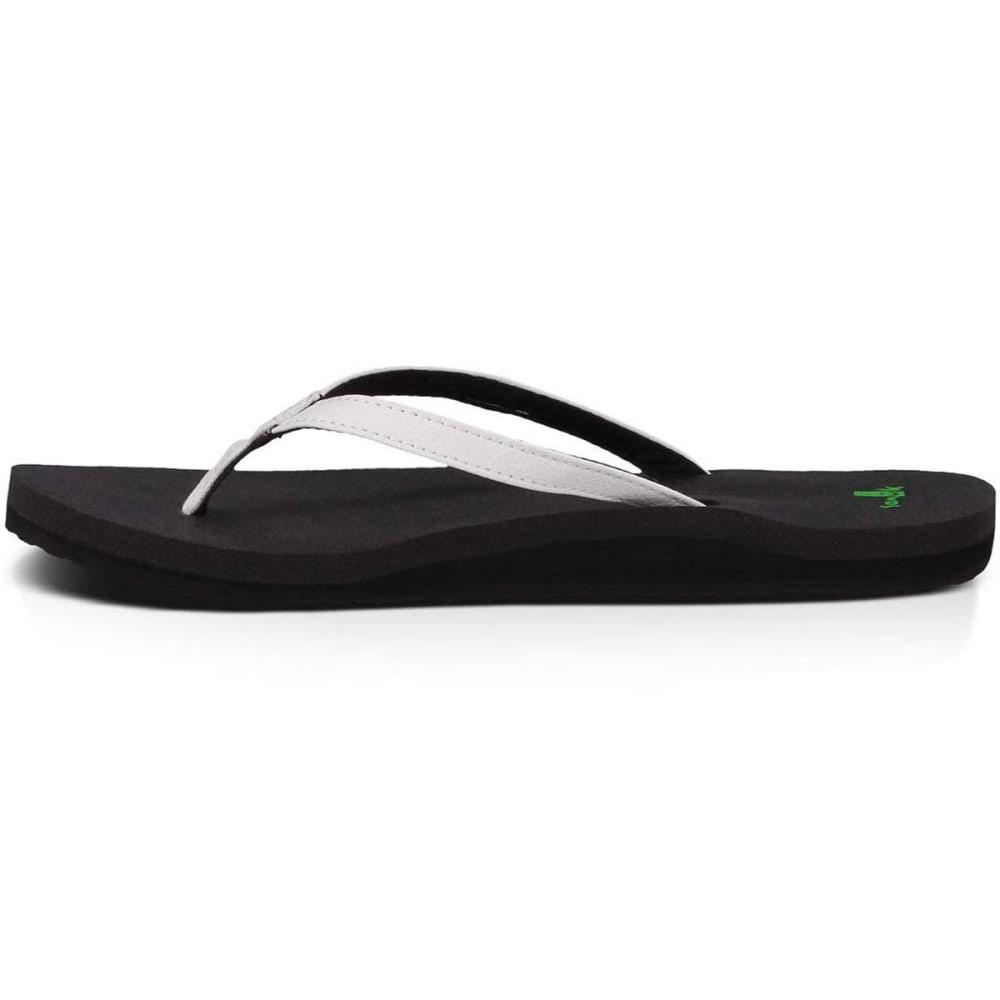 SANUK Women's Yoga Joy Flip Flops - WHITE
