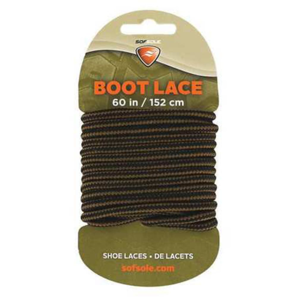 SOF SOLE 60 in. Boot Laces - BLK/BROWN 84725