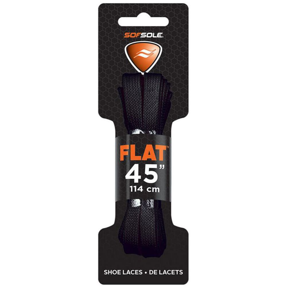SOF SOLE 45 in. Flat Athletic Shoe Laces - BLACK 84733