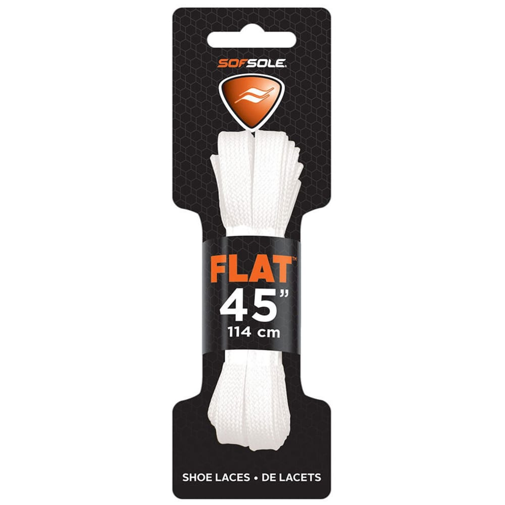 SOF SOLE 45 in. Flat Athletic Shoe Laces - WHITE 84732