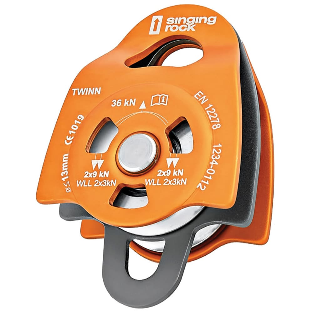 SINGING ROCK Pulley Twin Roll - ORANGE