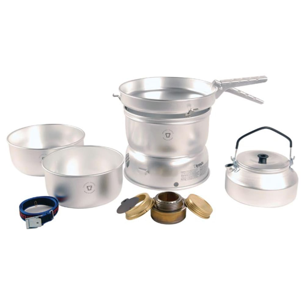 TRANGIA 25-0 Ultralight Alcohol Stove Kit with Kettle and Windshields - NO COLOR