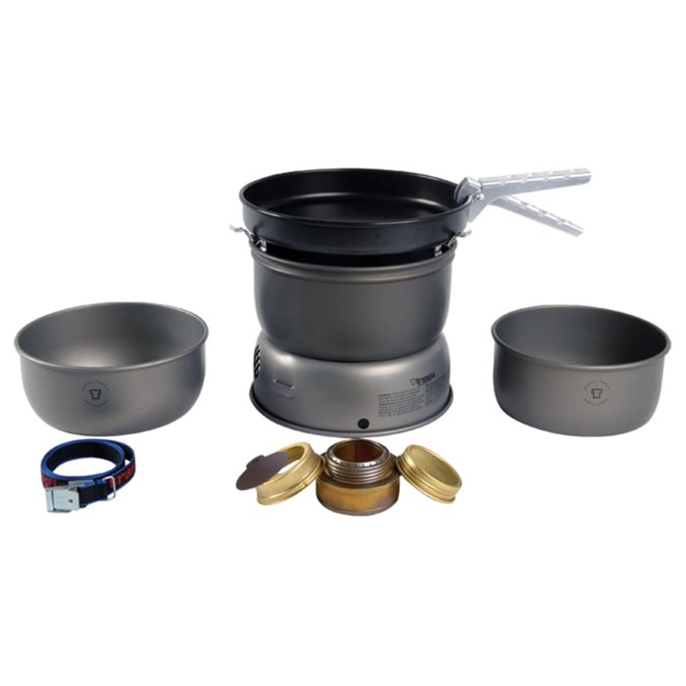 TRANGIA 25-3 Ultralight Hard Anodized Alcohol Stove Kit with Spirit Burner - NO COLOR
